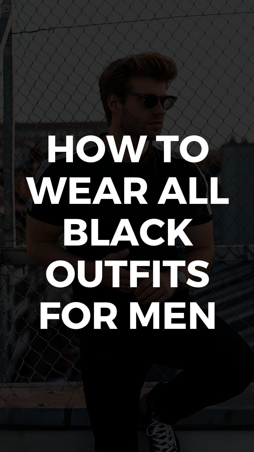 5 All Black Outfits For Men #allblack #outfits #mensfashion #streetstyle