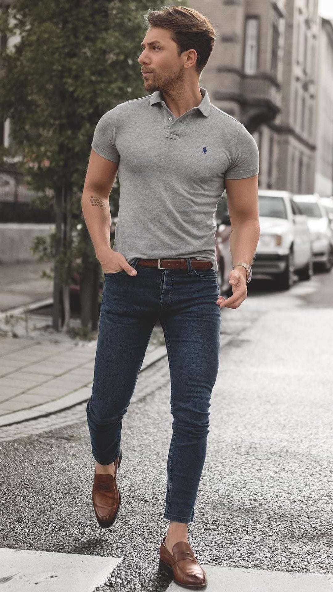 5 Polo Shirt Outfits For Men #poloshirtoutfits #streetstyle
