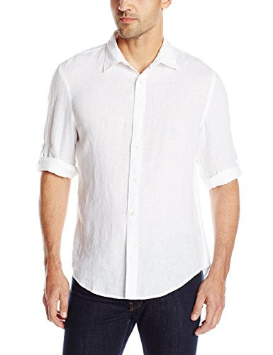 white linen shirt men