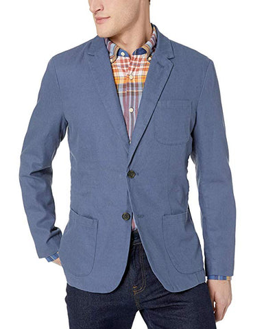 light blue linen blazer for men
