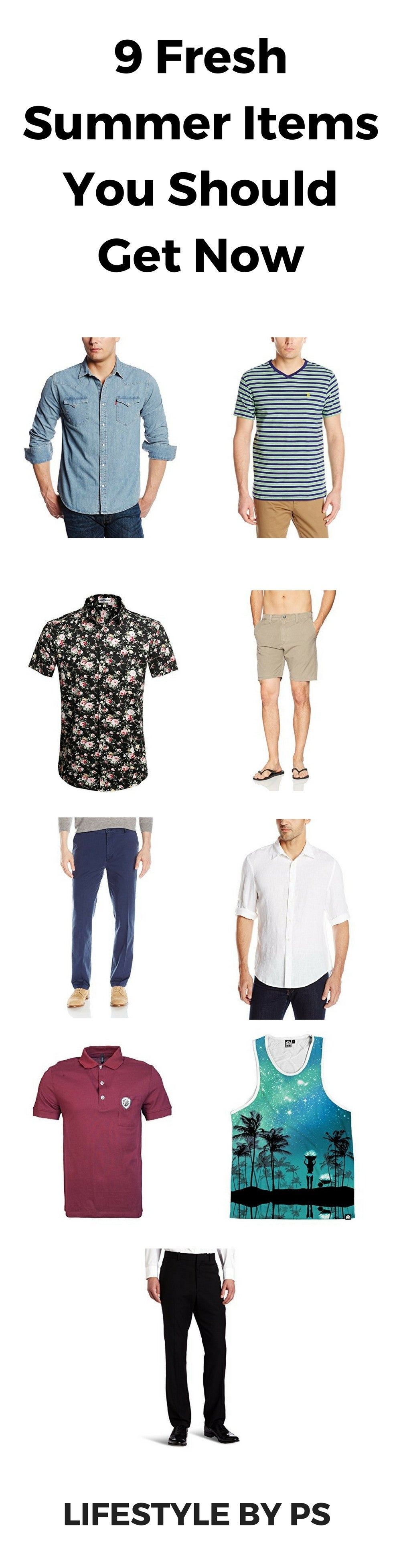 summer wardrobe items for men