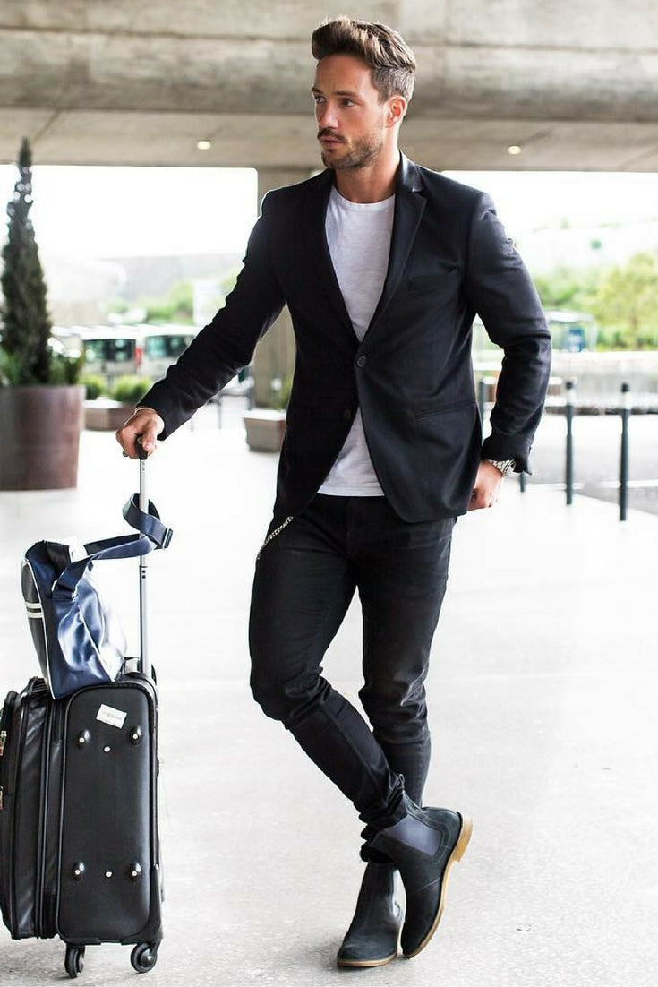 Airport Looks For Guys Airport Outfit Style For Men Lifestyle By Ps