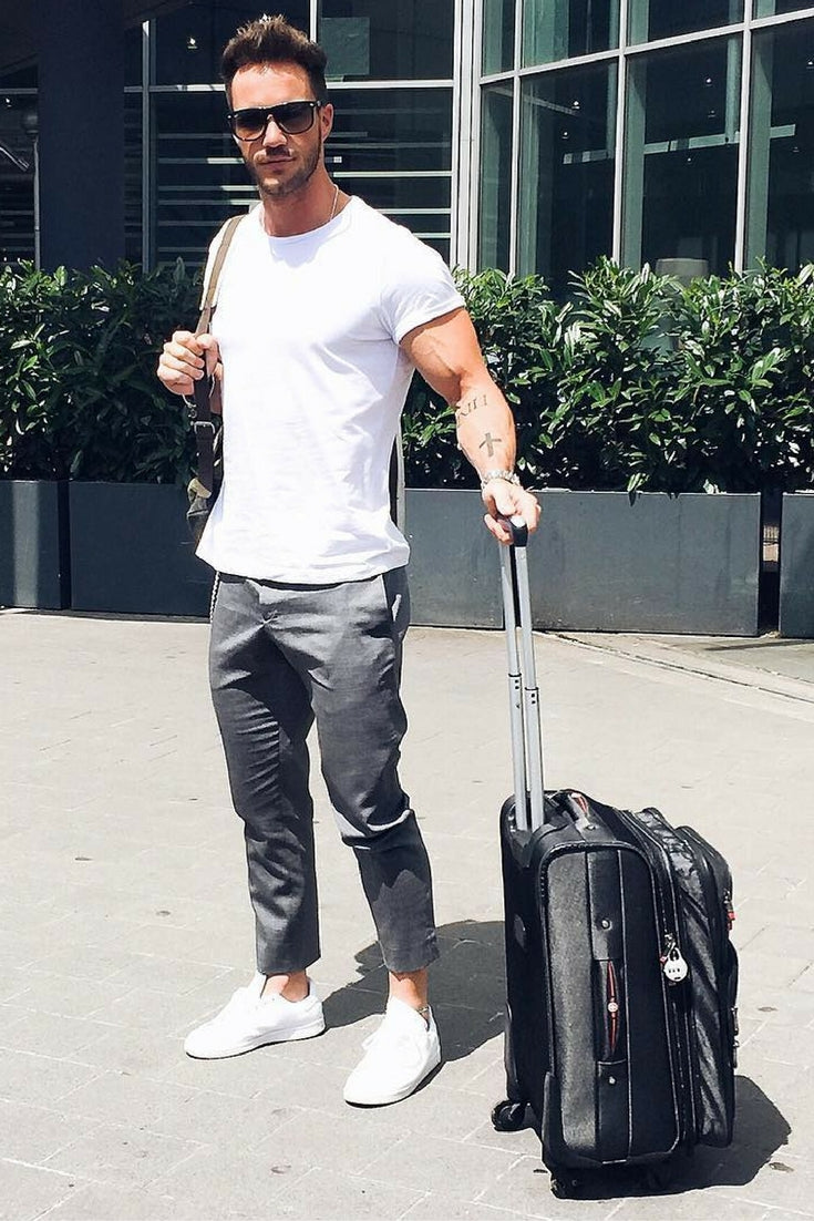 Airport Looks For Guys, Airport Outfit Style For Men