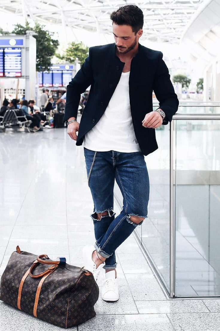 Airport Looks For Guys Airport Outfit Style For Men