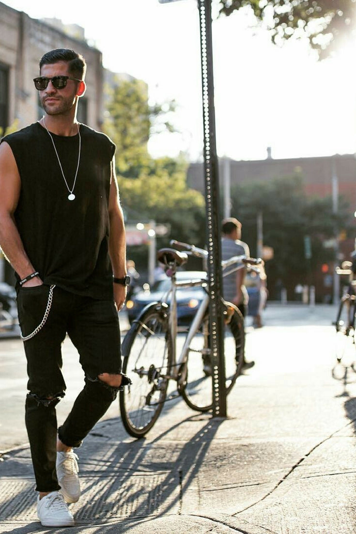Love wearing all black outfits? Then you are going to love these amazing all black outfit ideas #mensfashion #fashion #allblack