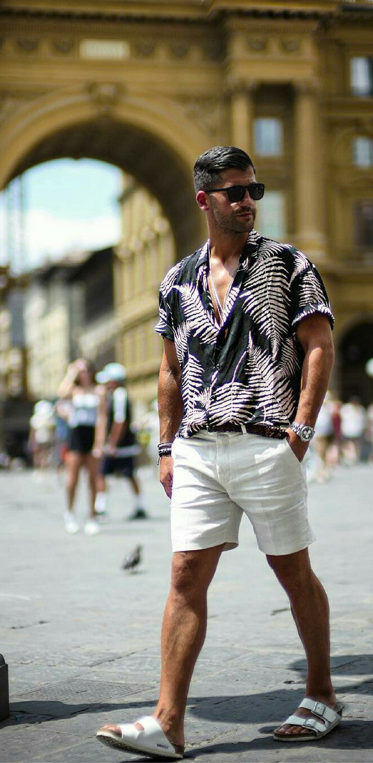 printed shirt outfits for men