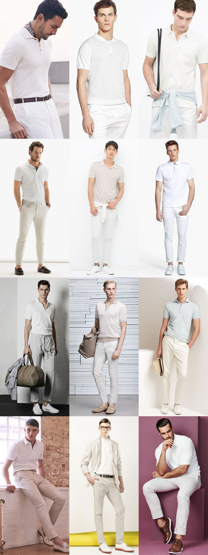 all white polo shirt looks for men