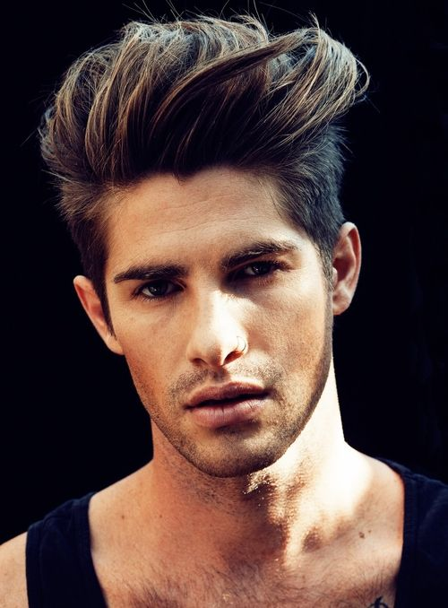 Trending men's hairstyles on Pinterest