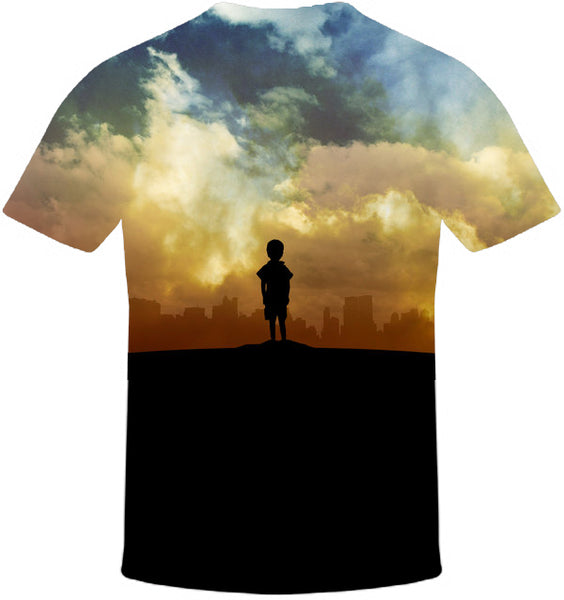 Kid in a City Print T-Shirt