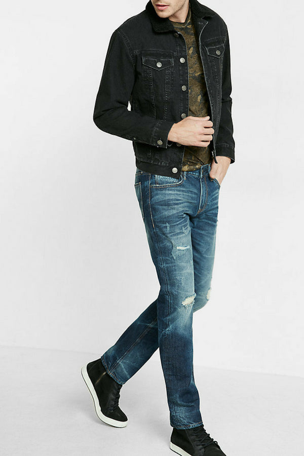 Love to wear black denim jacket? Then you are going to love these amazing black denim jacket outfits for men. #blackdenimjacket #denim #jacket #mensfashion #outfits #menswear #streetstyle #outfitideas
