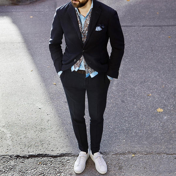How to wear blazer & sneakers for men