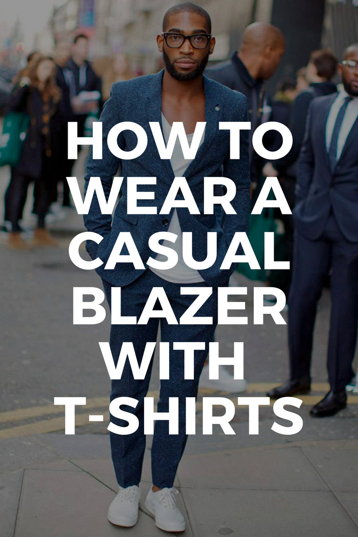 blazer and t-shirt looks for men