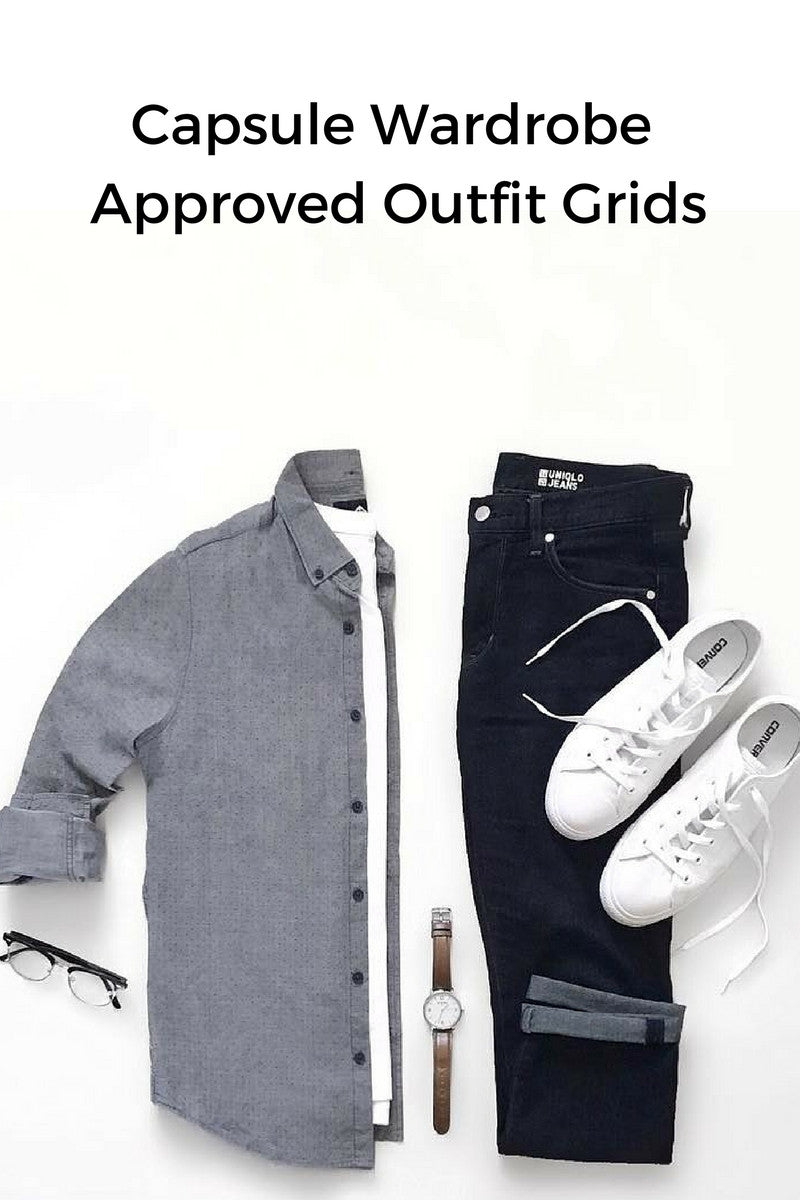 minimal outfit grids for men