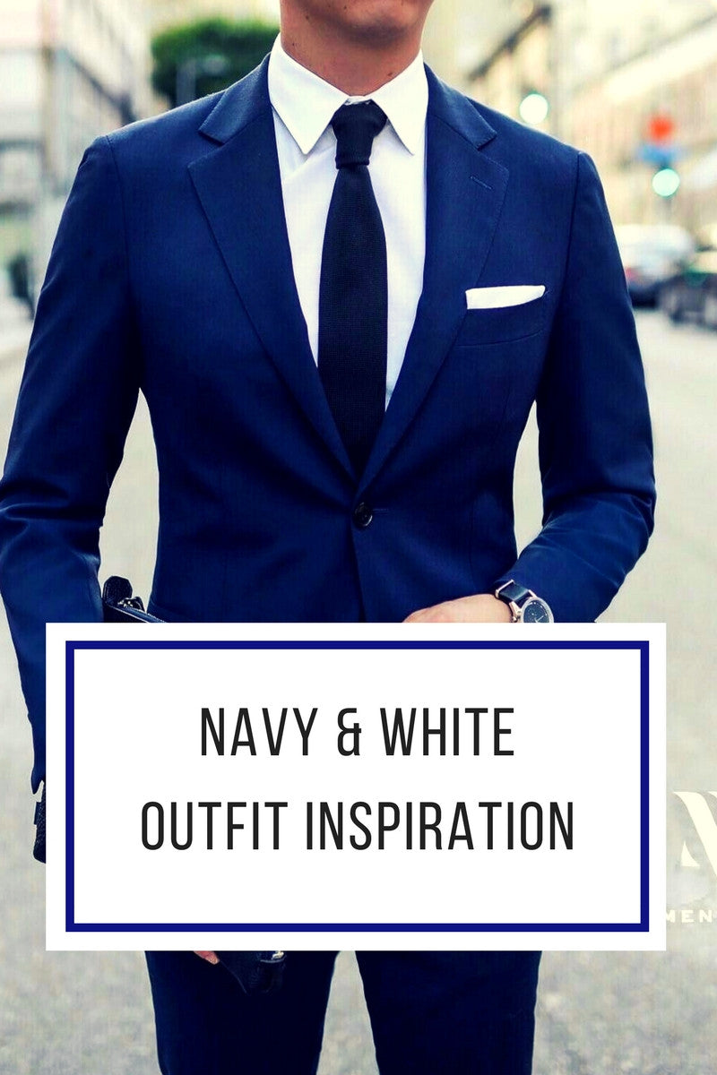 navy & white outfit inspiration