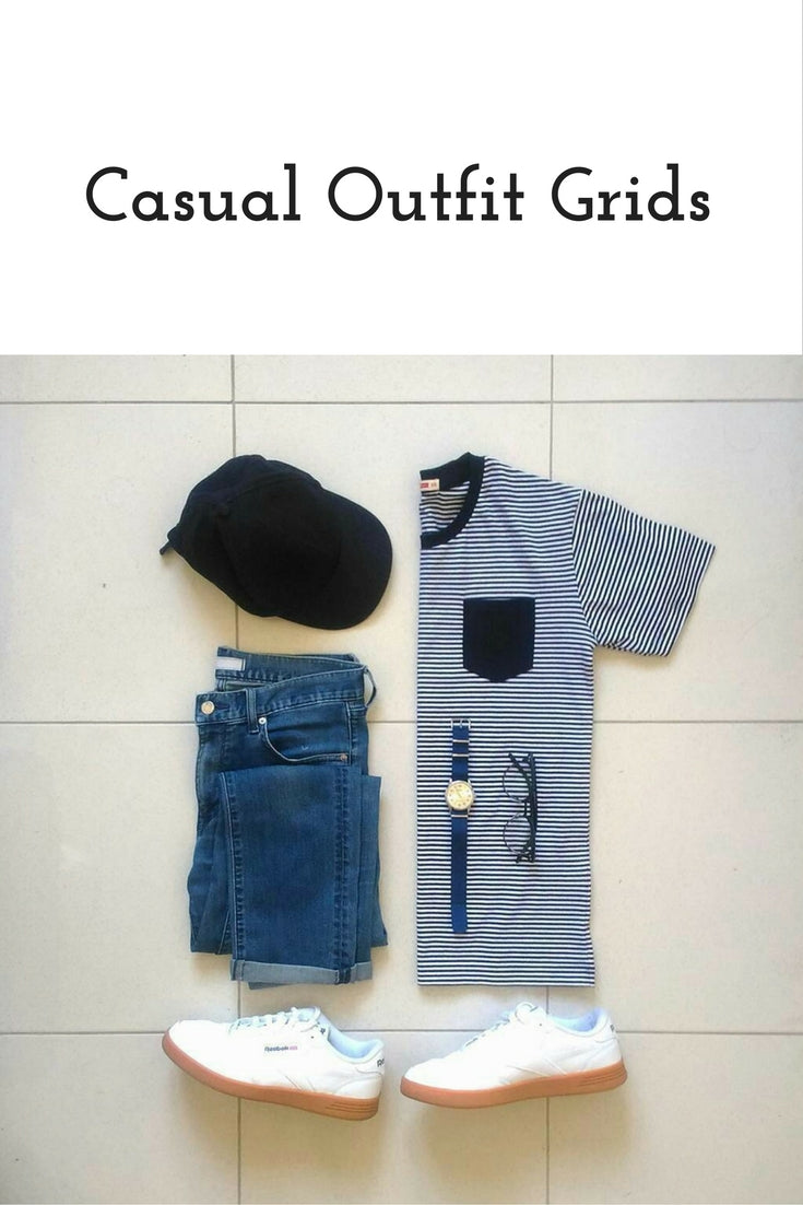 Casual outfit grids for men #mens #fashion #style