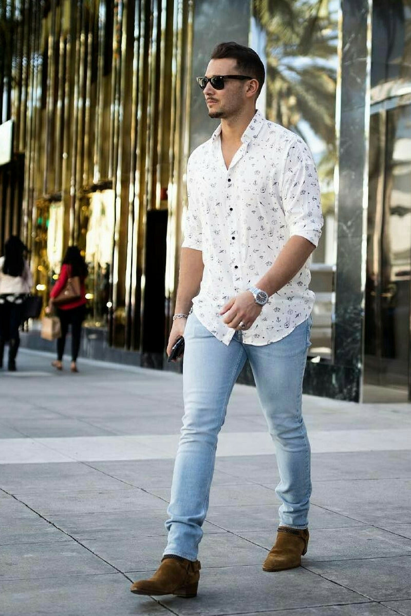 how to wear casual shirt for men