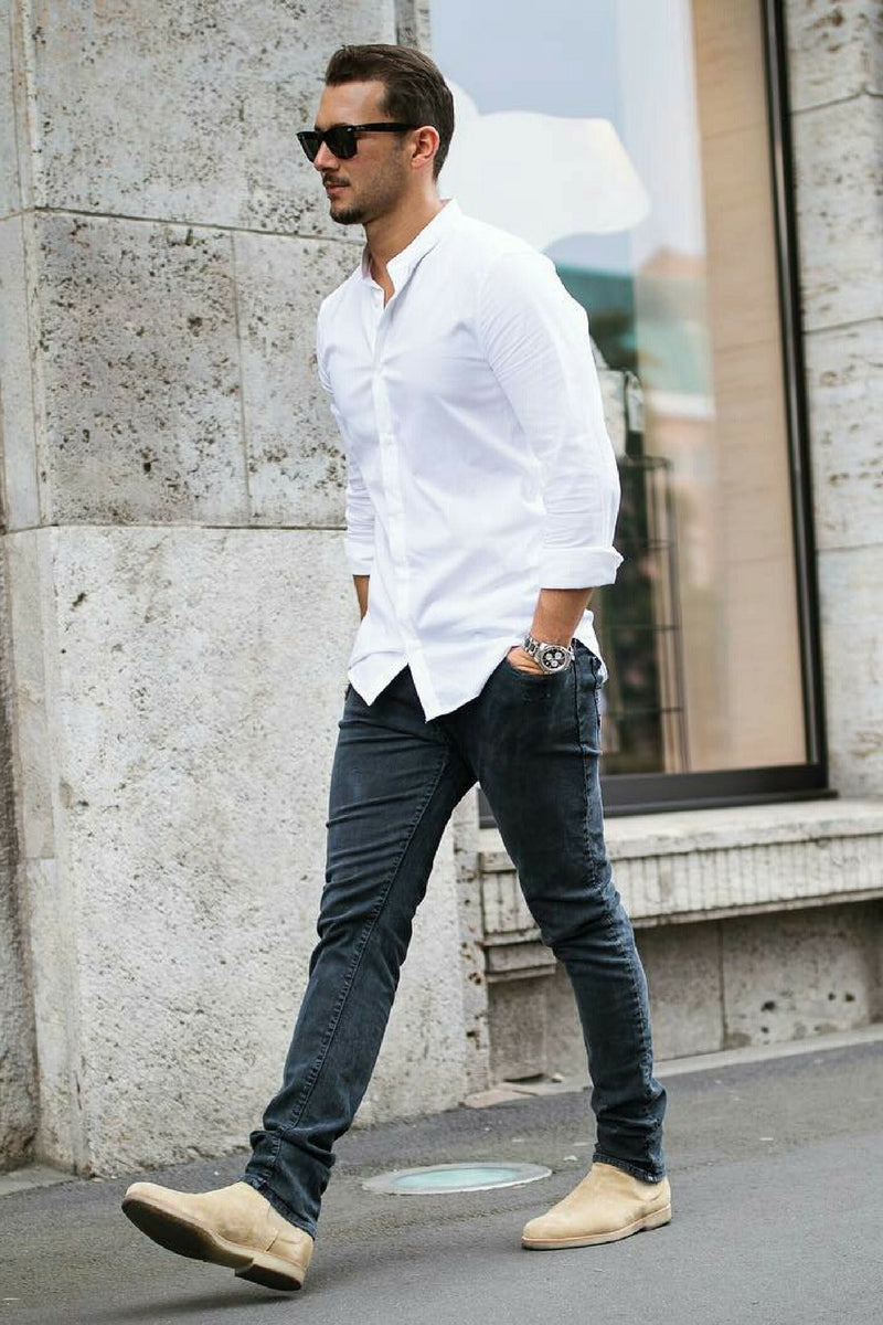 Casual shirt outfits for men. How to wear casual shirt ...