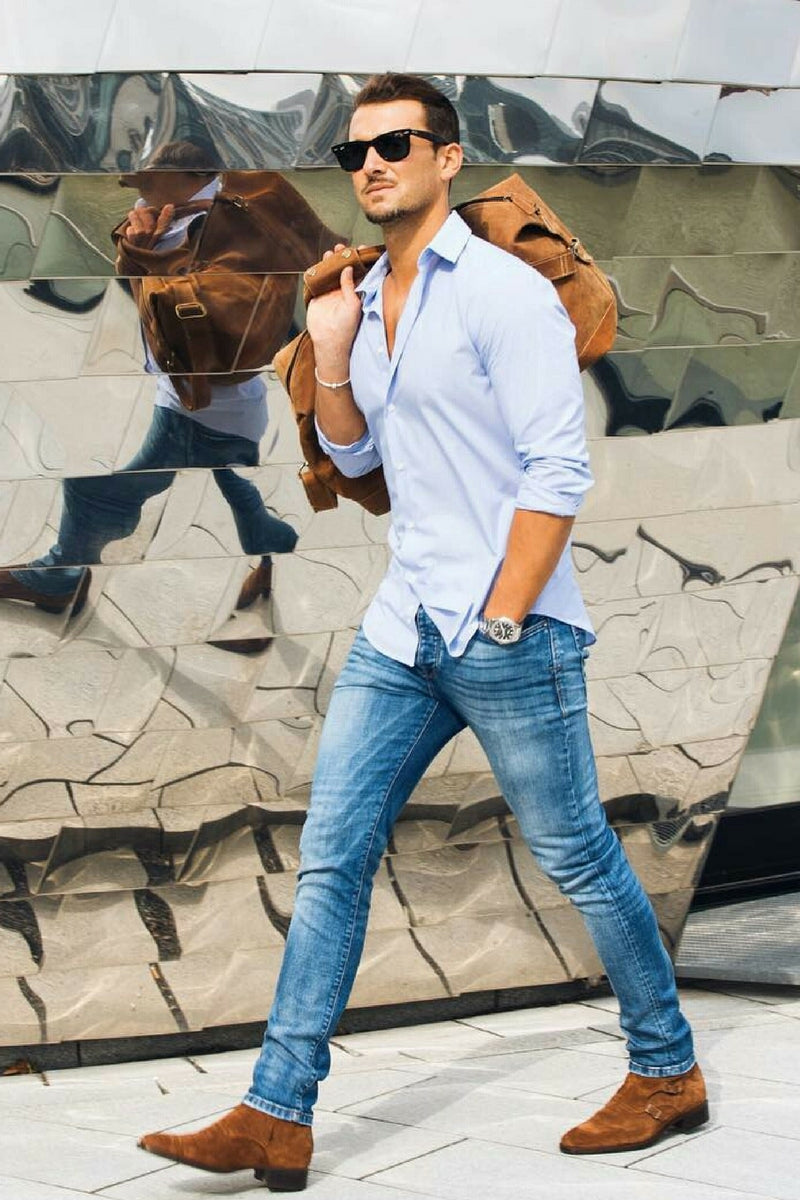 for men. How to wear casual shirt