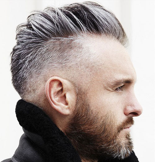 Fade + Comb Over + Full Beard