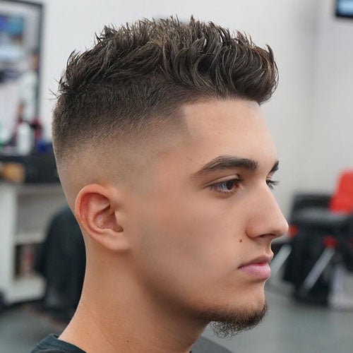 Skin Fade + Shape Up + Spiky Hair