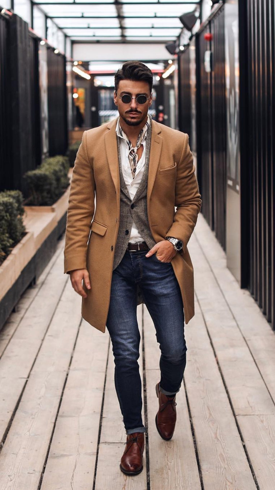 5 Dapper Winter Outfits For Men #winterfashion #fallfashion #mensfashion #streetstyle