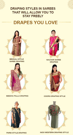 Draping Styles in Sarees That will Allow You to Stay Freely!