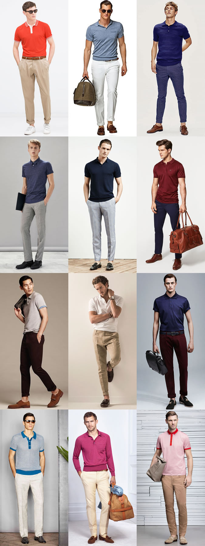 how to wear polo shirt with chinos & pants