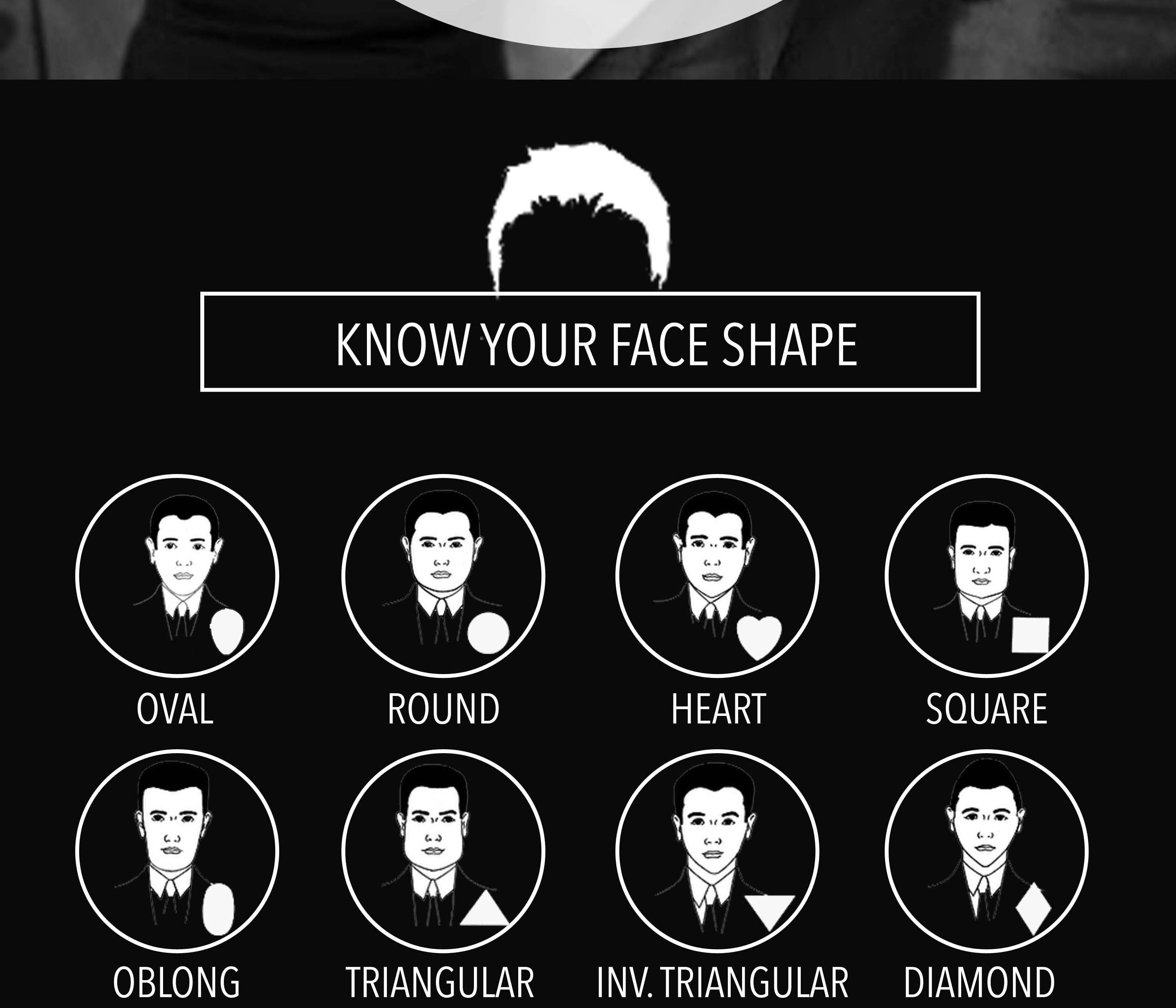 Gents, Pinpoint Your Next Hairstyle - Infographic