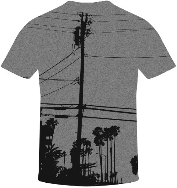 Street Wires Print T-Shirt