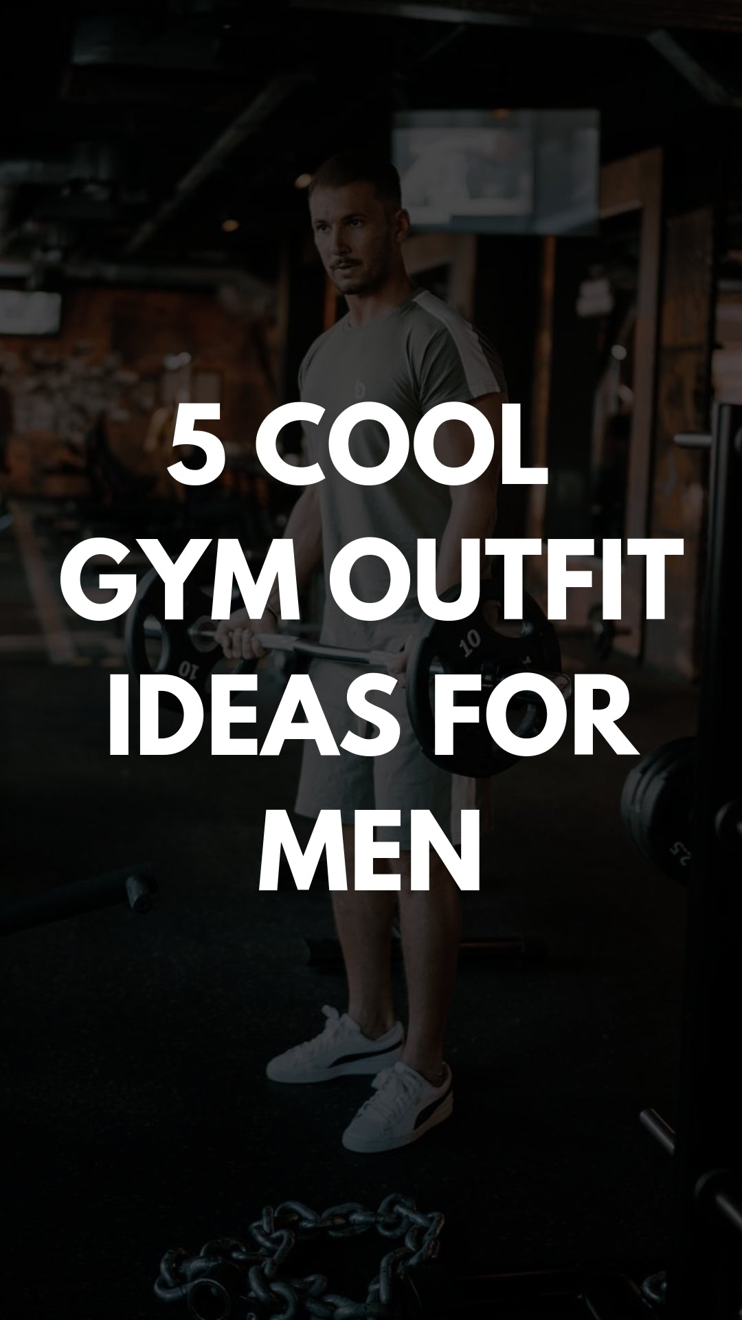 5 Amazing Gym Outfits For Men #gymwear #gymoutfits #workout #outfits #mensfashion