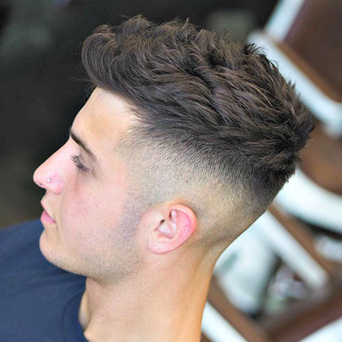 10. High Fade With Textured Hair On Top. Best Menu0027s Hairstyles ...
