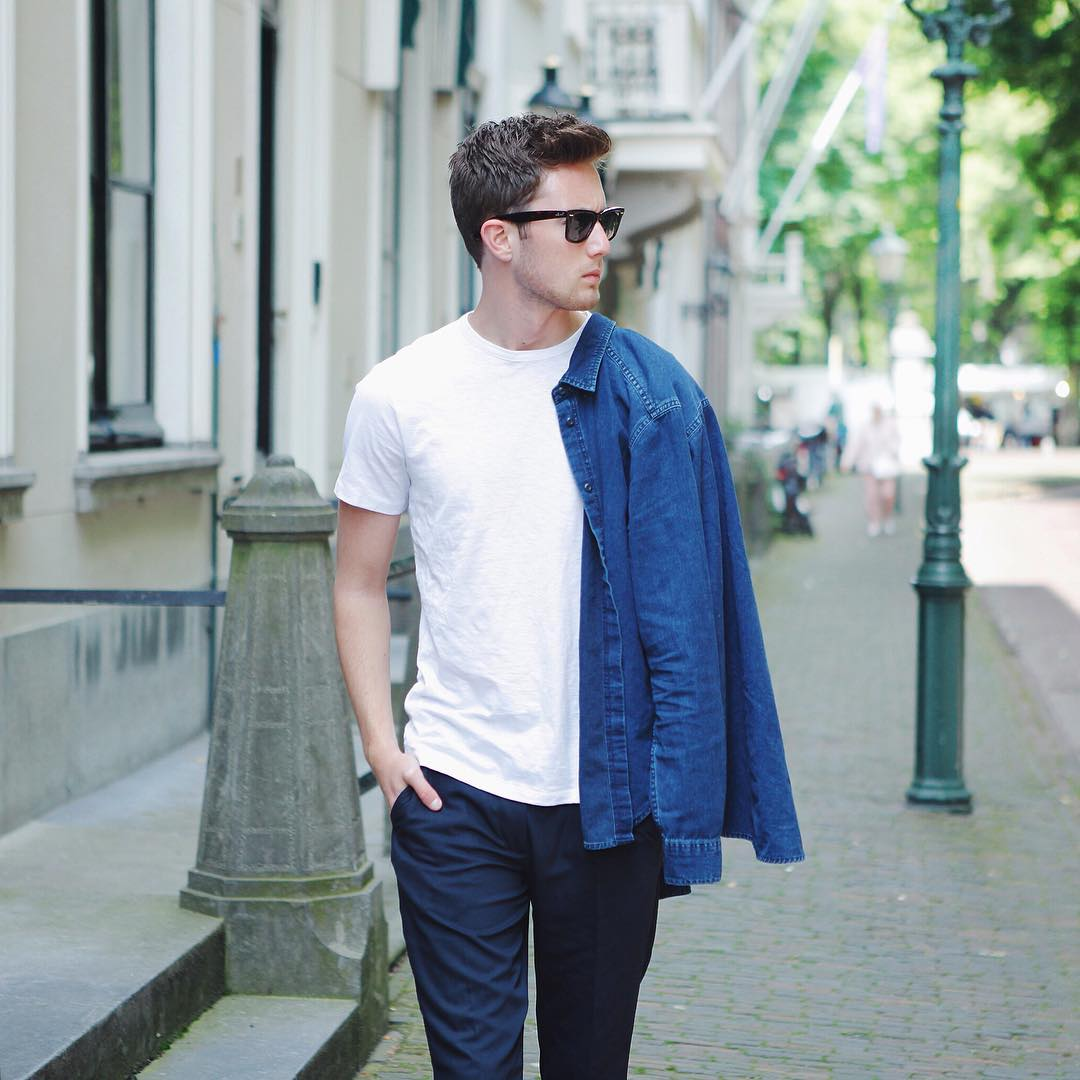 How to wear white T-shirt for men