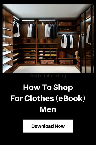 how to shop for clothes men ebook