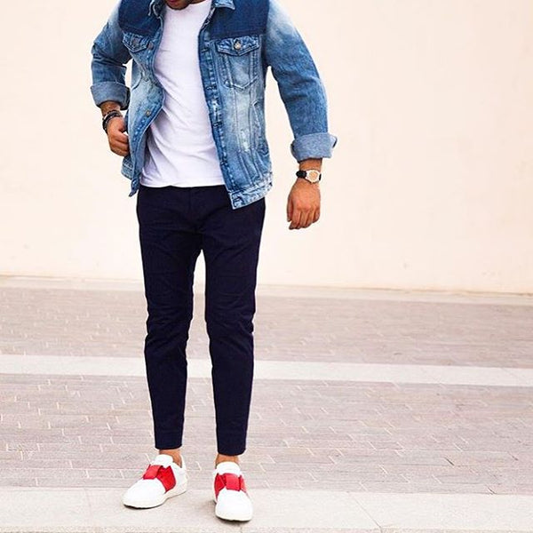 denim on denim looks for men