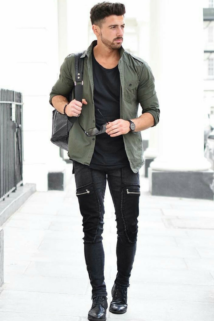 15 amazing ways to style your skinny pants this fall for Skinny jeans with shirt