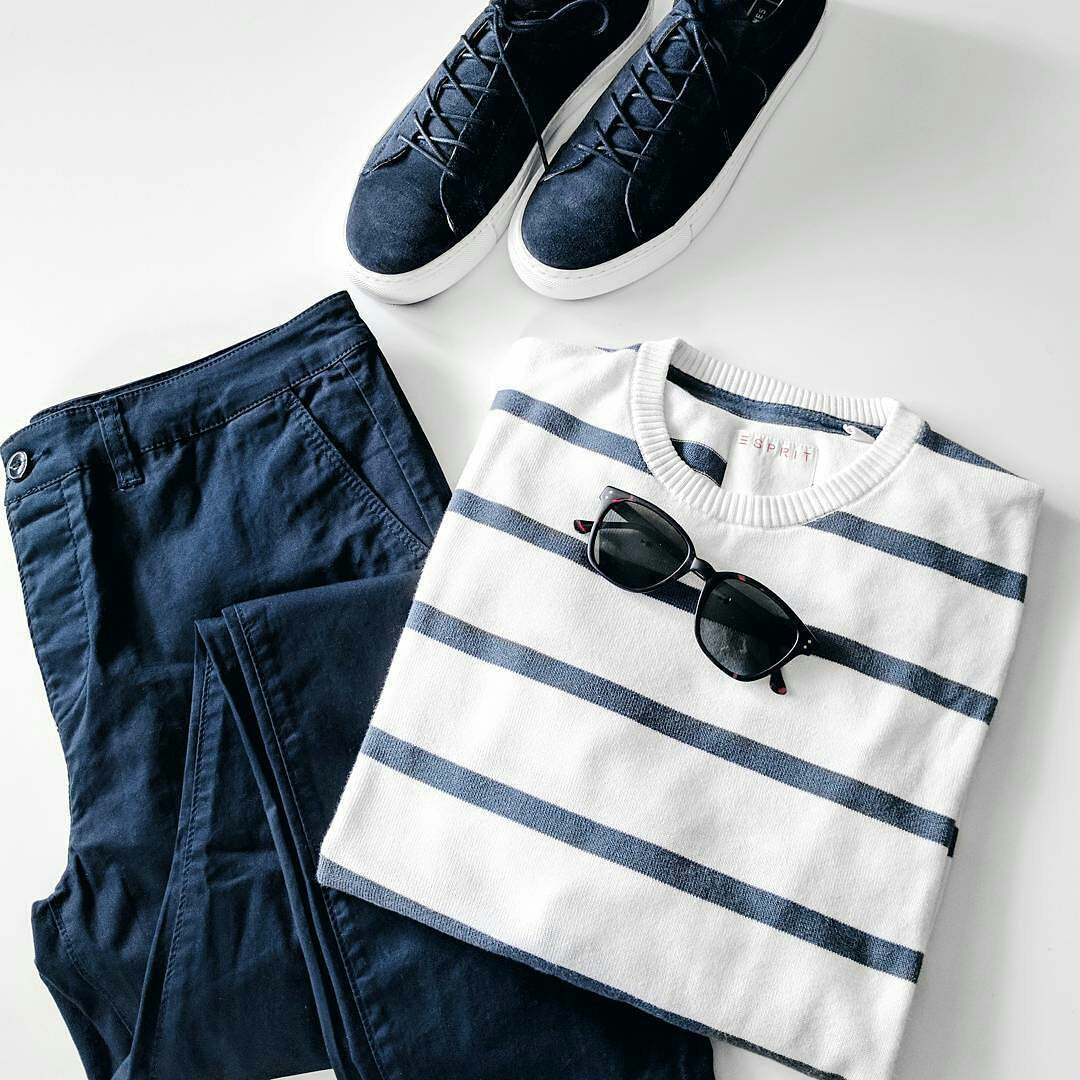 how to wear stripe t shirt for men