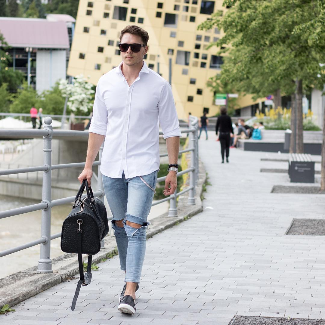 Smart White Shirt Outfit Ideas For Men How To Wear White Shirt For