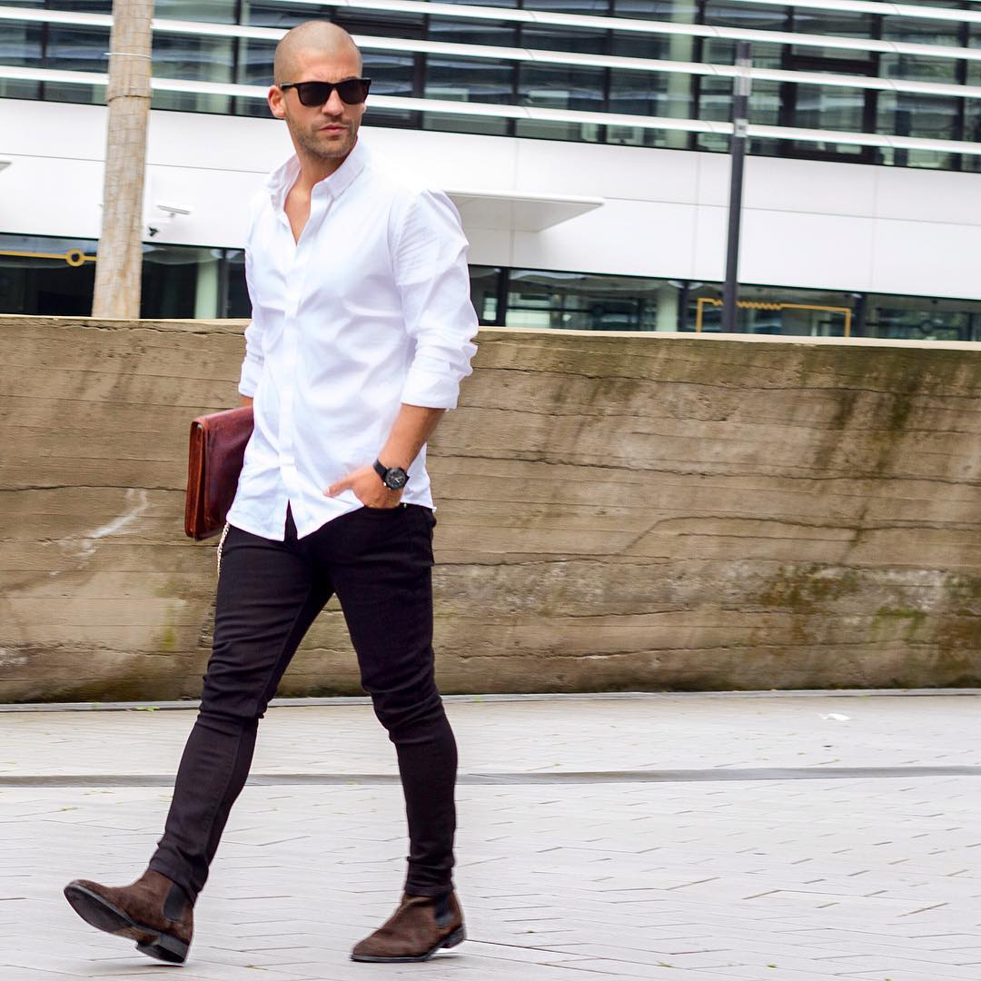 Smart white shirt outfit ideas for men how to wear white for White shirt outfit mens