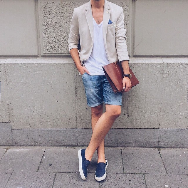 tshirt & shorts combo looks for men