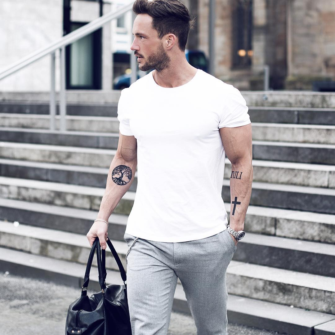 Wear to what with grey chinos