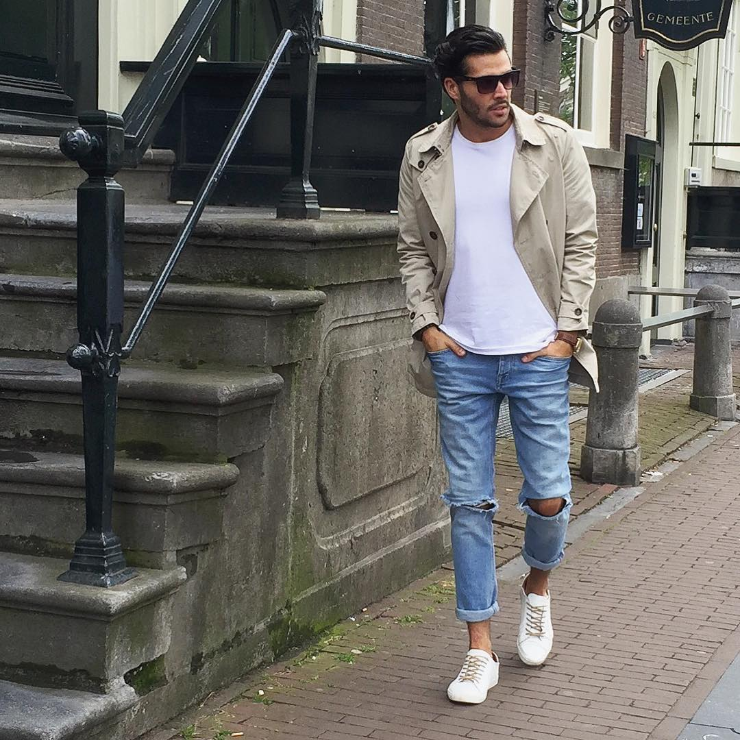 10 Ways To Wear A White Crew Neck Tee For Men
