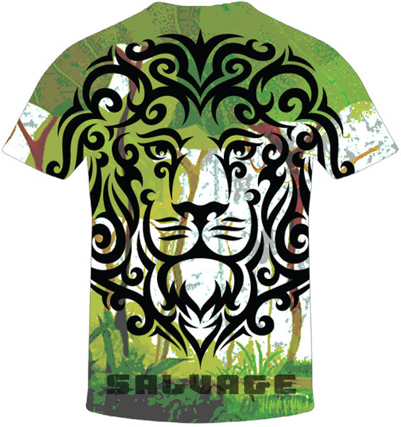 Lion Salvage Print T-Shirt