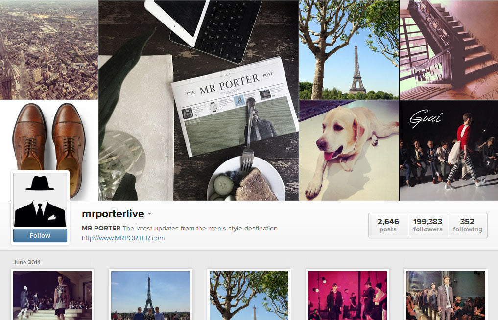 10 best instagram accounts for men men 39 s fashion for Mr porter live