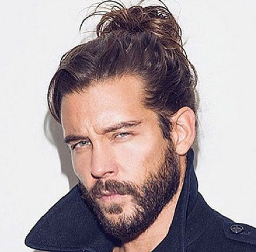 Man Bun with Beard