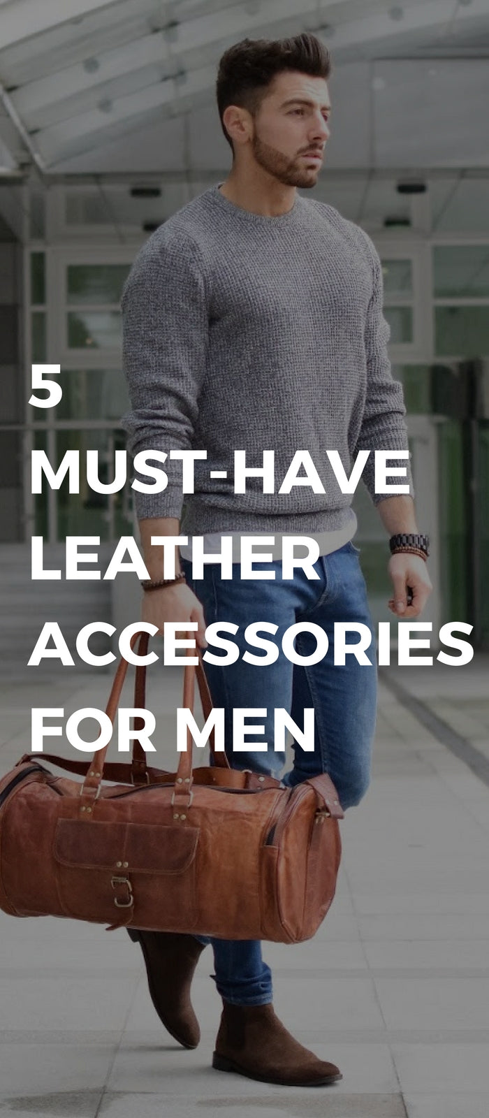 Leather accessories for men