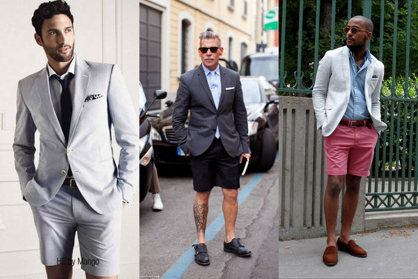 Mans shorts and suit