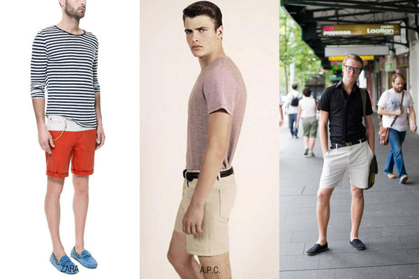 Man's shorts and t-shirts