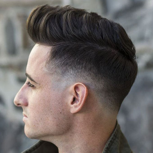 Awesome Mid Skin Fade Textured Quiff