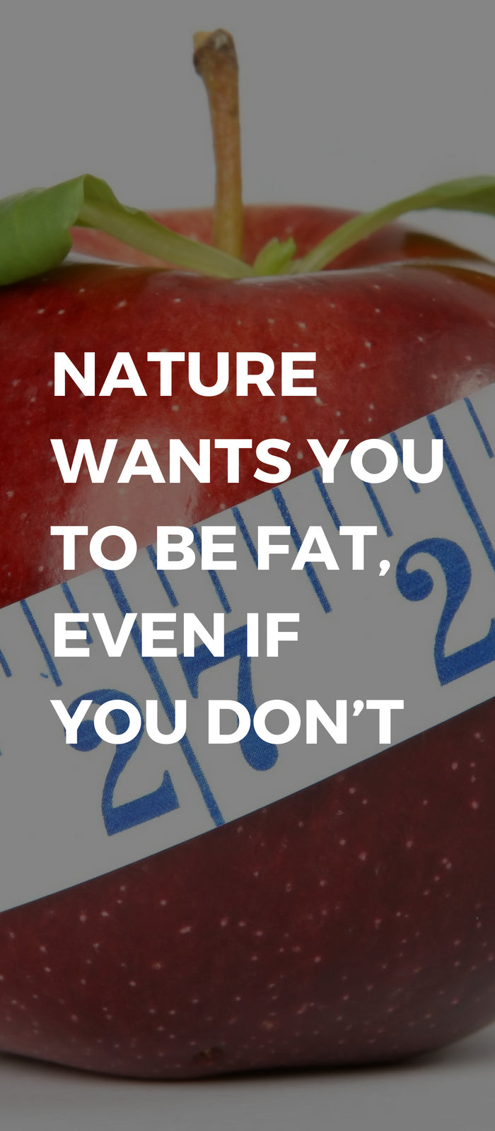 Nature Wants You to Be Fat, Even If You Don't