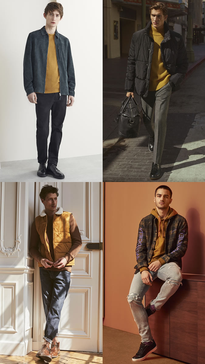 Mustard outfit ideas for men